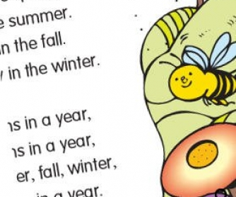 Four Seasons In A Year: Sing and Color Activity Worksheet