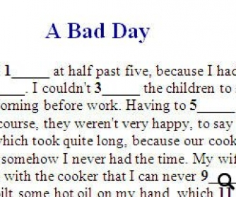 Bad Day: Reading Text and Multiple Choice Test