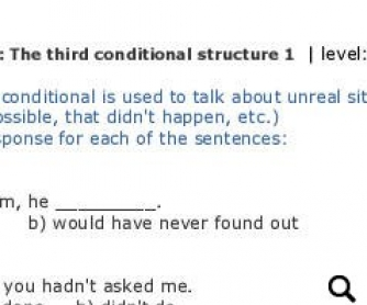 Third Conditional: Mutiple Choice Test with Keys and Rules
