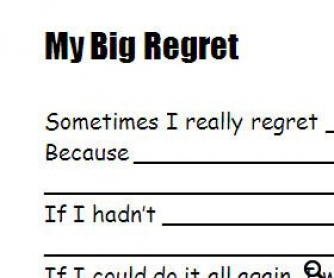 Regrets Worksheet