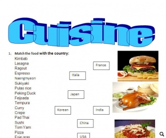 Cuisine: Food and Country