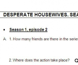 desperate housewives worksheet season 1 episodes 2 and 3