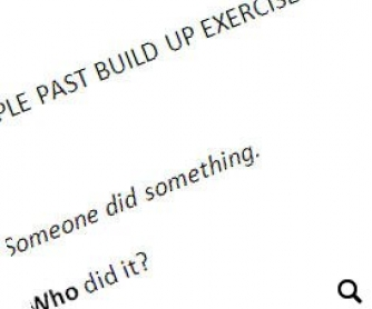 Simple Past Tense Build Up Exercise