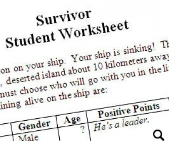Survive The Sinking Ship - Who Do You Save?