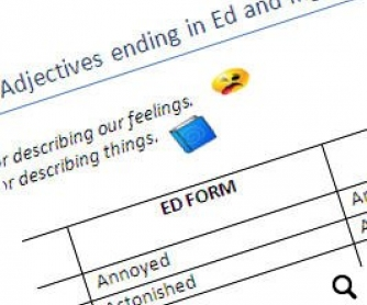 adjectives endind in ed and ing