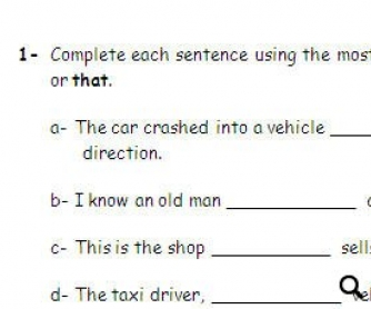 Test on Relative Pronouns