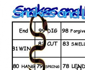 Snakes and Ladders Irregular Verbs