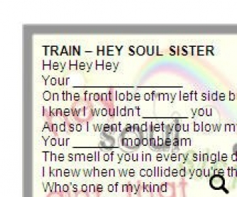 Song Worksheet: Hey Soul Sister by Train (WITH VIDEO)