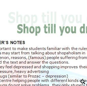 Compulsive buying disorder