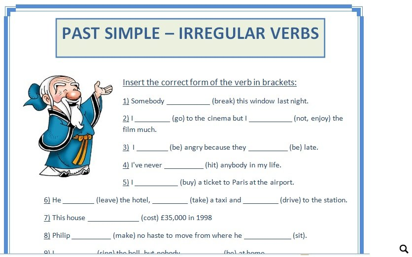 Simple Irregular Verbs – Irregular Verbs Worksheets