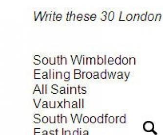 London Worksheet