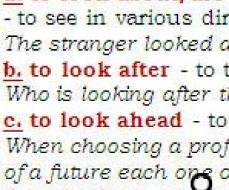 Phrasal Verbs Challenge: To Look