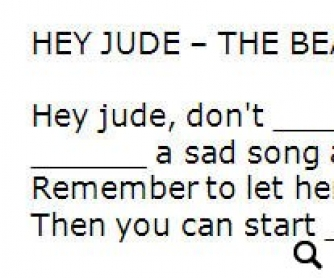 Song Worksheet: Hey Jude by The Beatles (WITH VIDEO)