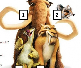 Cartoon Worksheet: Ice Age