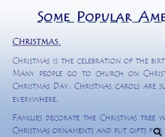 Popular American Holidays: Christmas, New Year, Independence Day, Halloween, Thanksgiving