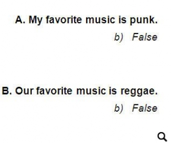 Musical True or False