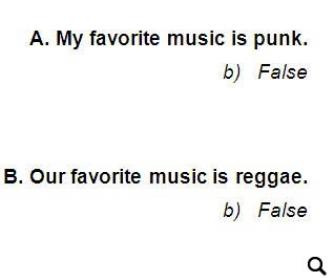 Musical True or False