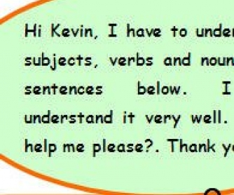 Subject, Verb, Noun Worksheet