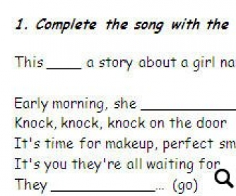 Song Worksheet: Lucky by Britney Spears (WITH VIDEO)