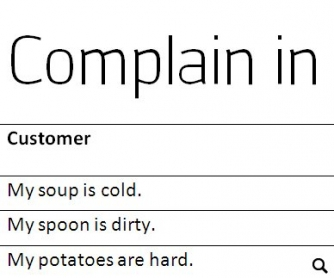 Complaining in a Restaurant