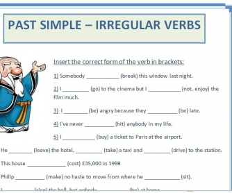 Past Simple - Irregular Verbs