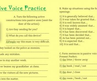 Passive Voice Practice