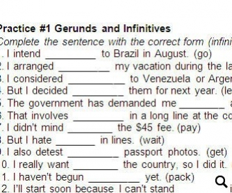 Gerunds vs Infinitives