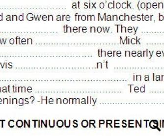 Present Simple vs. Present Continuous Worksheet