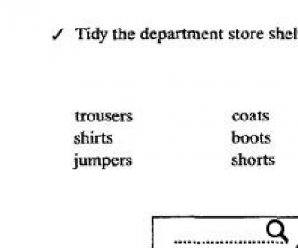 Sort Them Out: Clothes Worksheet