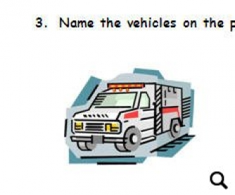 Vehicles Worksheet