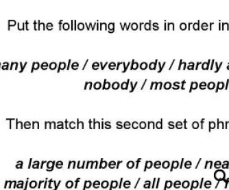 Everybody In This Room Speaks English: Quantifiers Worksheet