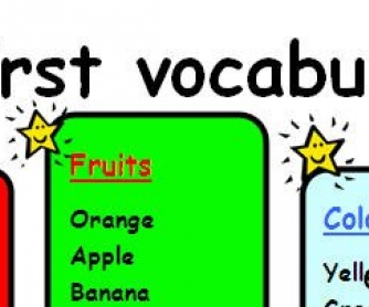 My First Vocabulary Chart