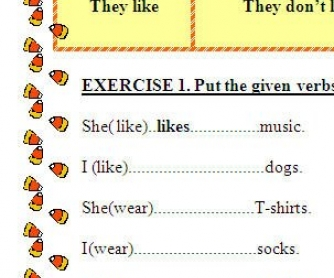 Present Simple Revision Exercises