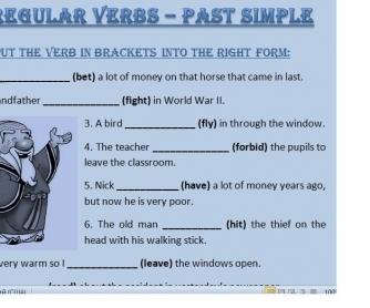 Irregular Verbs - Past Simple