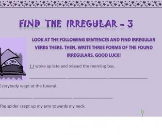 Find the Irregular - 3