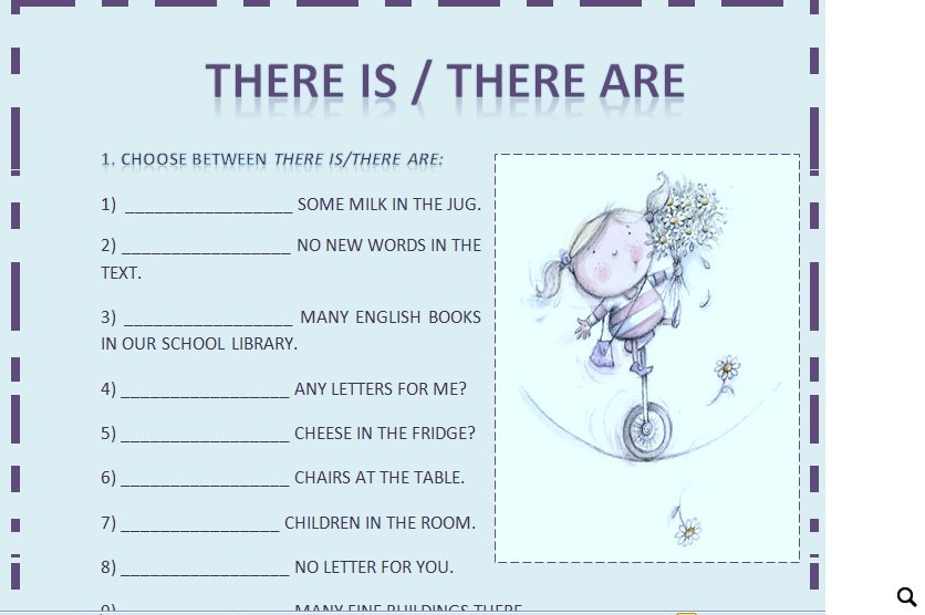 3316 There Is There Are Exercises For Beginners on Reading Worksheets