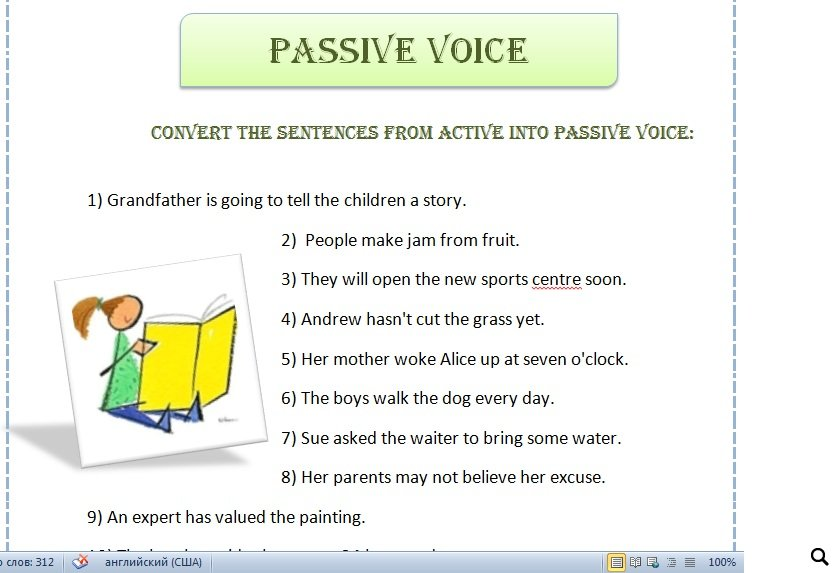 Voice Practice Worksheet – Active Passive Voice Worksheet