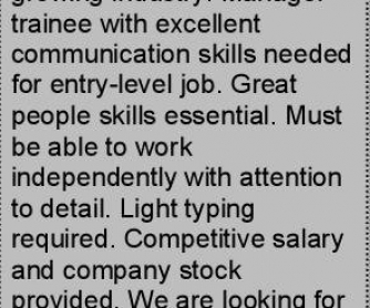The Job Ad: Full Lesson Plan