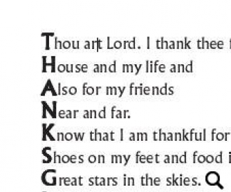 Thanksgiving Poetry Worksheet