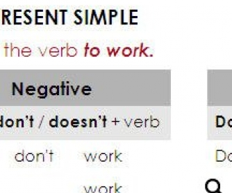 Present Simple - Focusing on Form