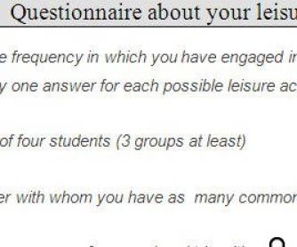 Leisure Time Activities Questionnaire