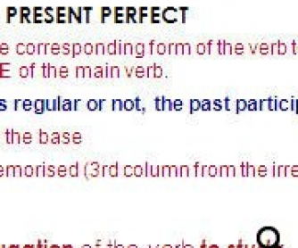 Present Perfect - Focusing on Form