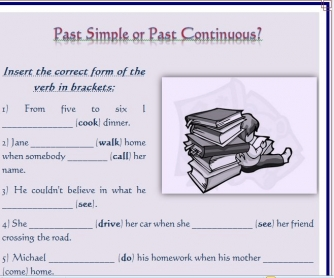 Past Simple or Continuous Worksheet