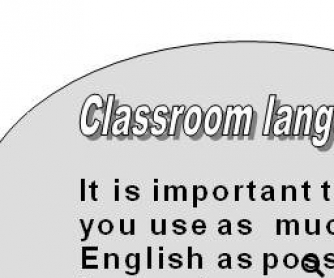 Let's Use English in the Class: Classroom Language