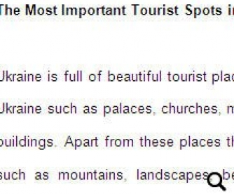 Tourist Spots in Ukraine
