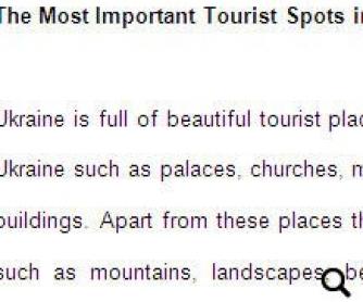 Tourist Spots in Ukraine