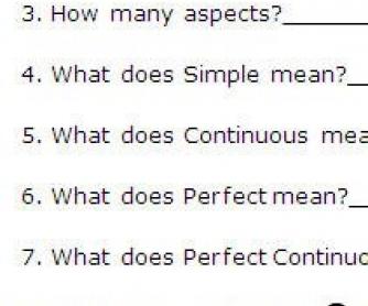 All Tenses: Concept Questions