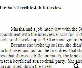 Marsha's Terrible Job Interview