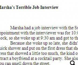 Marsha's Terrible Job Interview