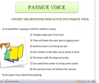 Passive Voice Practice Worksheet